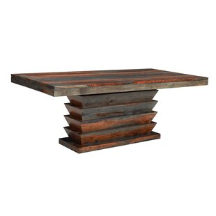 Monroy Solid Wood Dining Table World Menagerie