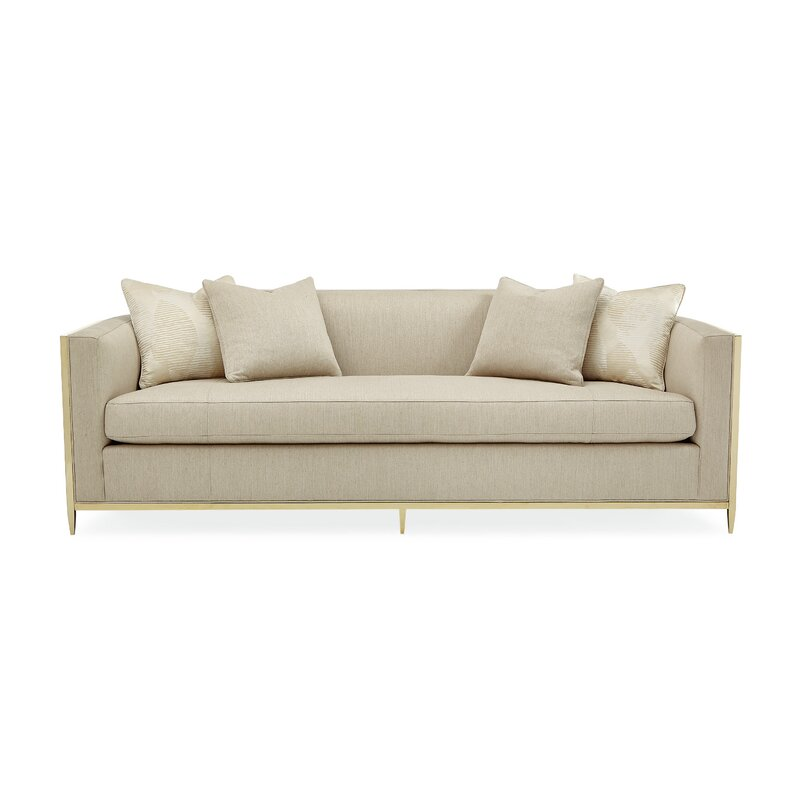 Metal Wred Bench Cushion Sofa