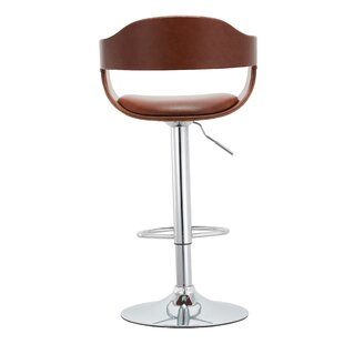 Stagg Adjustable Height Swivel Bar Stool by Orren Ellis