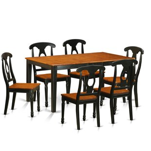 Pillar Traditional 7 Piece Wood Dining Set August Grove