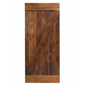 Knotty Solid Wood 1 Panel Pine Sliding Interior Barn Door