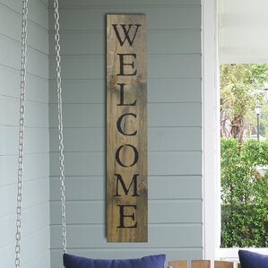 Welcome Wall Decor rustic wall accents you'll love | wayfair