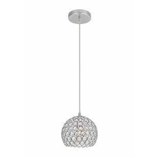 Clarke 1-Light Crystal Pendant by Orren Ellis