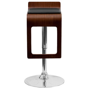 Merrick Adjustable Height Swivel Bar Stool (Set of 2) Wrought Studio
