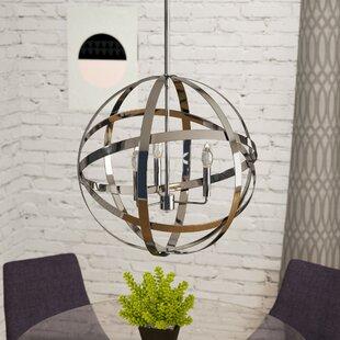 Mercury Row Curcio 3-Light Globe Chandelier