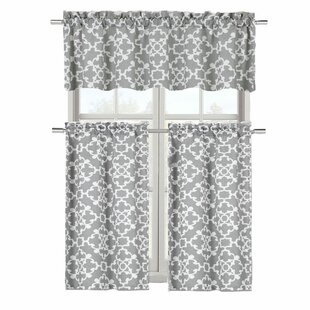 Emsley 3 Piece Kitchen Curtain Set By Charlton Home