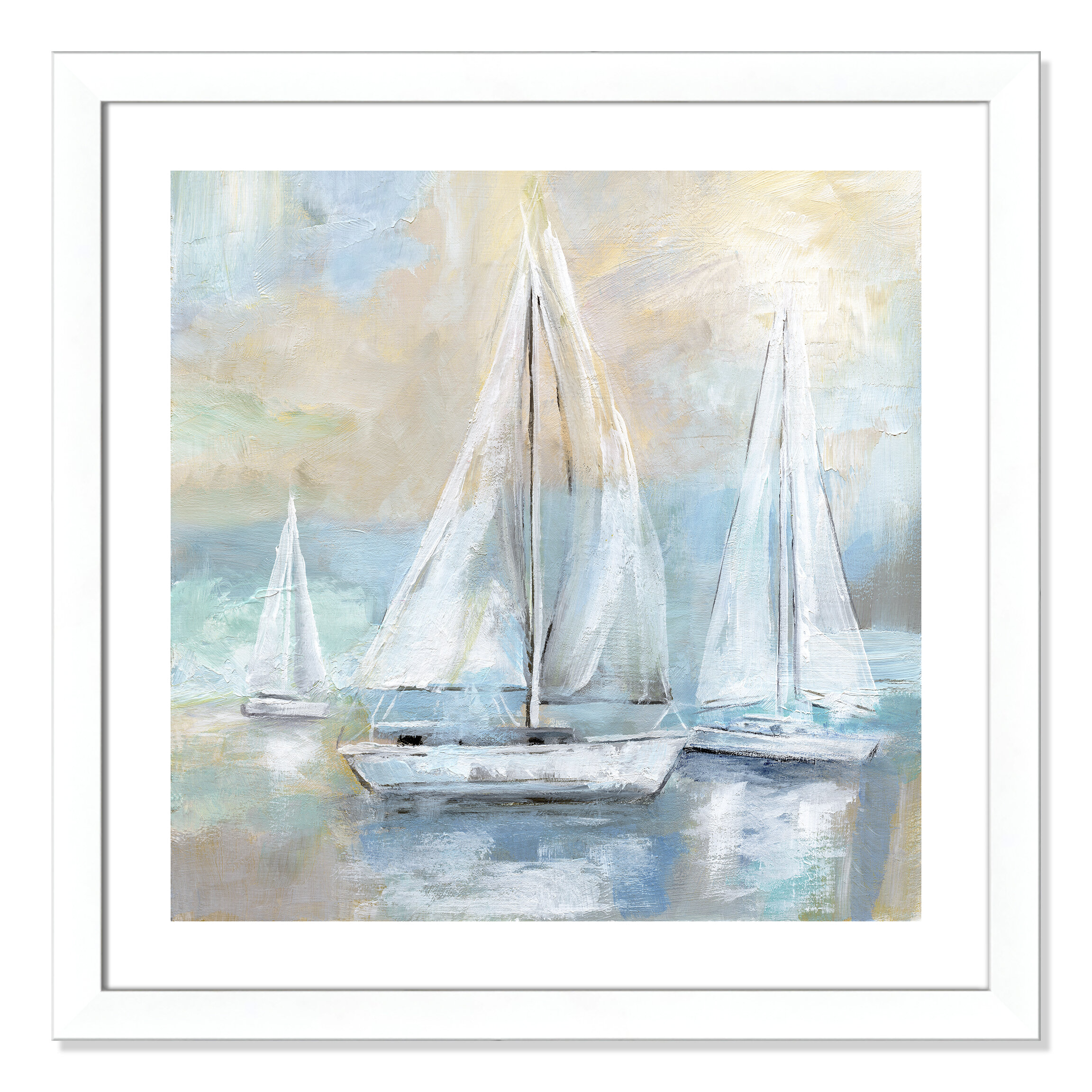 Breakwater Bay Sail Away Framed Painting Print Wayfair
