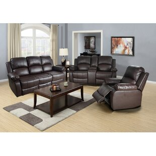 Harton Reclining 3 Piece Living Room Set