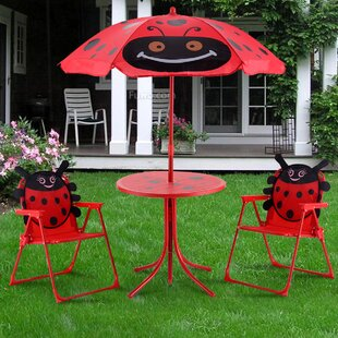 Eben Kids 3 Piece Picnic Table and Chair Set By Zoomie Kids