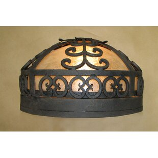 Laura Lee Designs Palm Ceiling Dome Flush Mount
