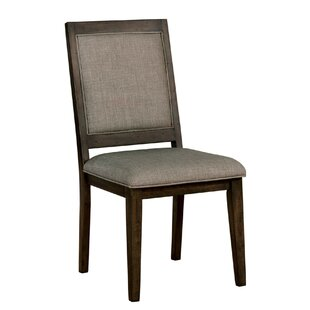 Schafer Transitional Upholstered Dining Chair (Set of 2) Canora Grey