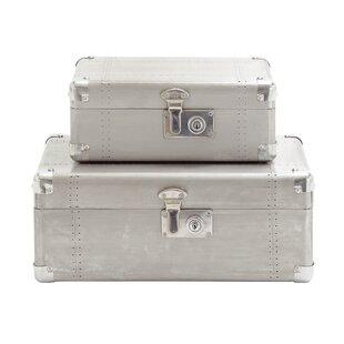 Cole & Grey Wood and Aluminum Case Set