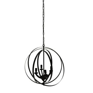 Gracie Oaks Peter 4 -Light Globe Chandelier