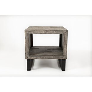 Conlon Wood and Metal End Table