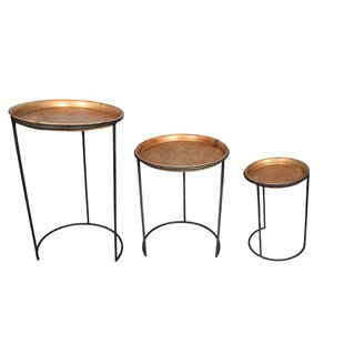 Prague Iron 3 Piece Nesting Table by World Menagerie