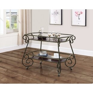 Fleur De Lis Living Cosey Bar Carts with Scroll Accents