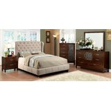 Fontes Ivory Queen Bed With Night Stand, Dresser, Chest And Mirror Set by Williams Import Co.