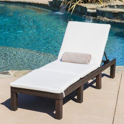 Wide Chaise Lounge Cushions   Wayfair
