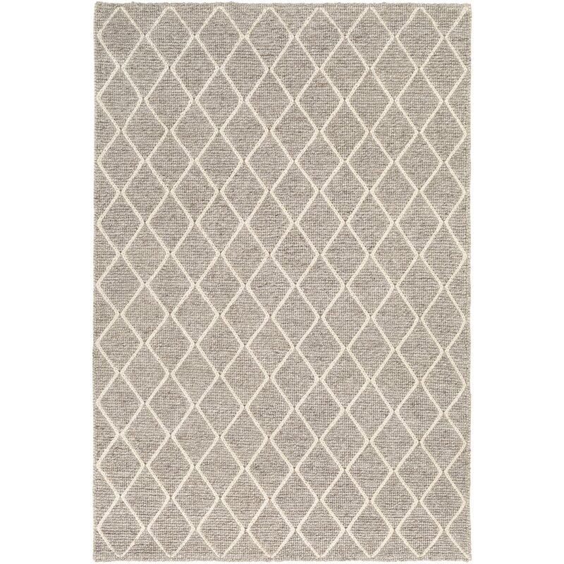 Gracie Oaks Cusack Textured Gray Area