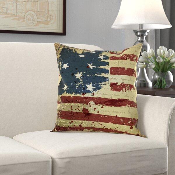 Vintage American Flag Pillow   Wayfair