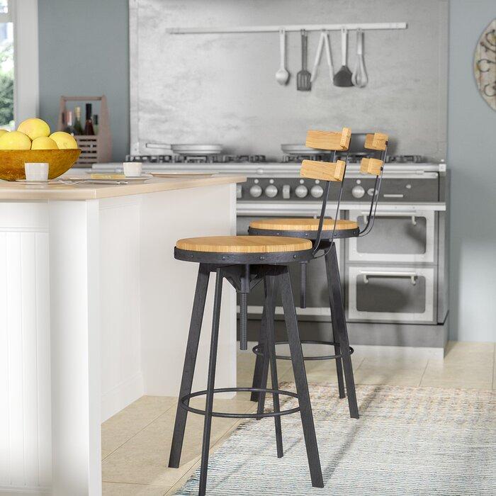 Peachy Gloria Adjustable Height Swivel Bar Stool Theyellowbook Wood Chair Design Ideas Theyellowbookinfo