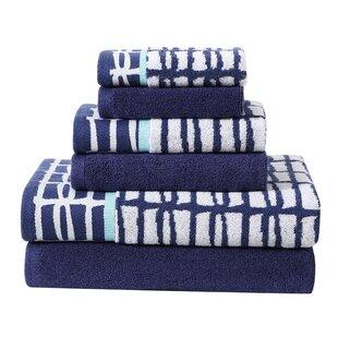6 Piece 100% Cotton Towel Set by clairebella 2019 Sale