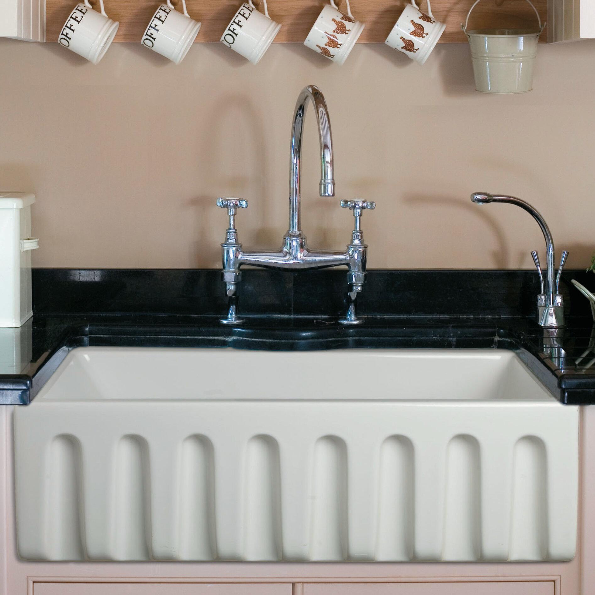 Ab3018hs W Reversible Single Bowl Fireclay Farm 30 L X 10 Farmhouse Kitchen Sink