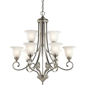 Bretton 9-Light Shaded Chandelier