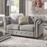 Austin 68.4 Rolled Arm Loveseat by Kelly Clarkson Home