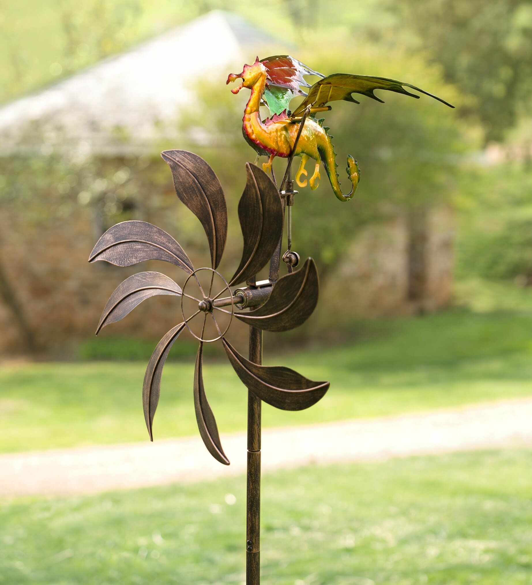 Wind & Weather Flying Dragon Wind Spinner | Wayfair