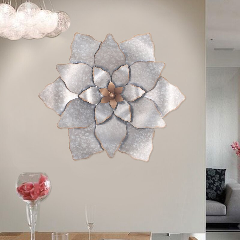 Lotus Metal Flower Wall Décor