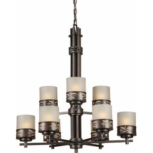 Highsmith 9-Light Shaded Chandelier by Bloomsbury Market