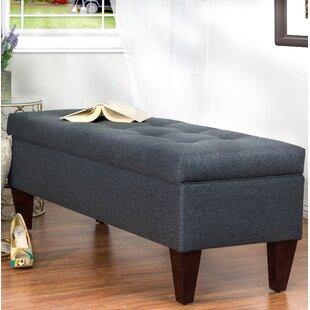 Alcott Hill Woodside Upholstered Storage Bench