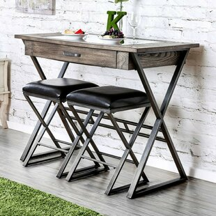 Matos Industrial Wine Solid Wood Dining Set