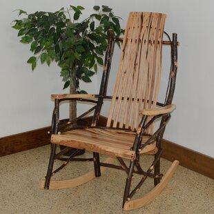 Loon Peak ZanowitZ Hickory Rocking Chair