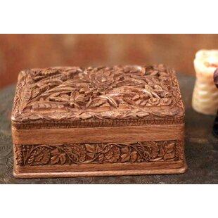 Reviews Walnut Wood Jewelry Box By Novica
