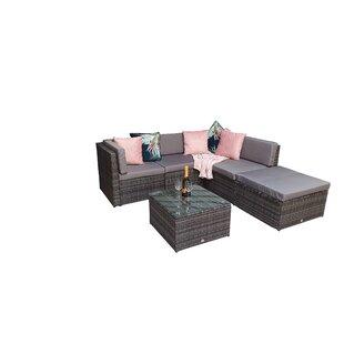 Fatululik 4 Seater Rattan Corner Sofa Set By Sol 72 Outdoor