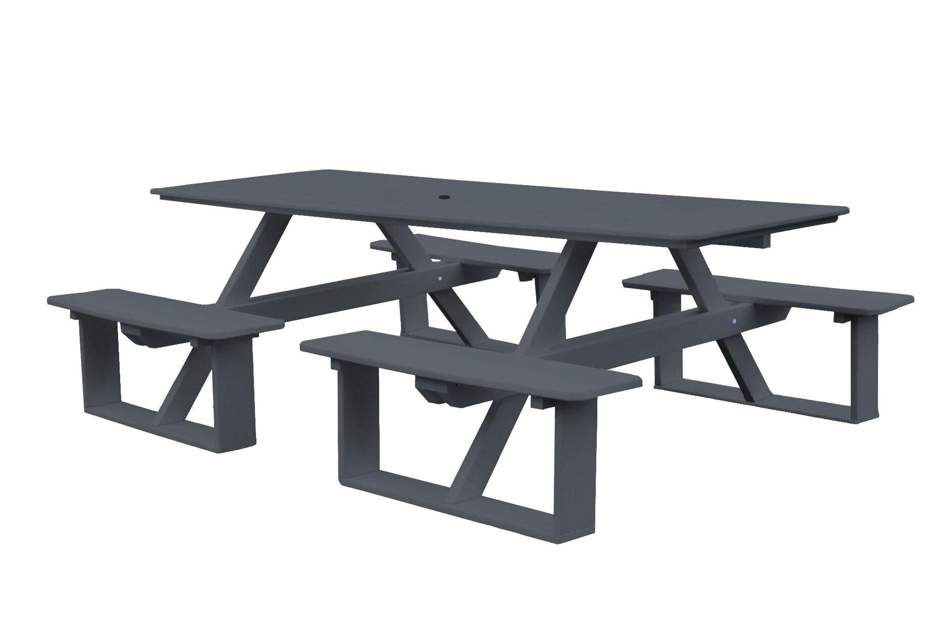 Fabulous Westbrook 8 Walk In Table Umbrella Hole Plastic Picnic Table Download Free Architecture Designs Oxytwazosbritishbridgeorg