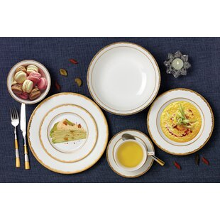 New 28 Piece Bone China Dinnerware Set Service for 4