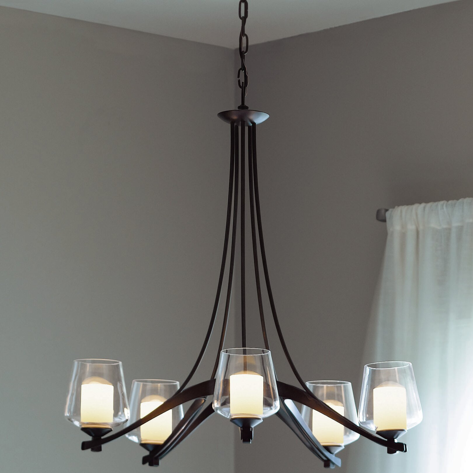 Hubbardton Forge Ribbon 6 Light Shaded Classic Traditional Chandelier Perigold