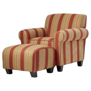 Magnificent Red Barrel Studio Raven Armchair And Ottoman Maikroy Deekai Customarchery Wood Chair Design Ideas Customarcherynet