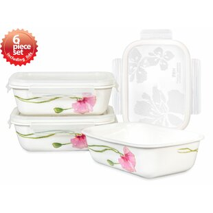Sophie Rectangular 3 Container Food Storage Set