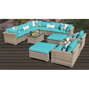 Monterey Outdoor 13 Piece Sectional Seating Group Set with Cushions