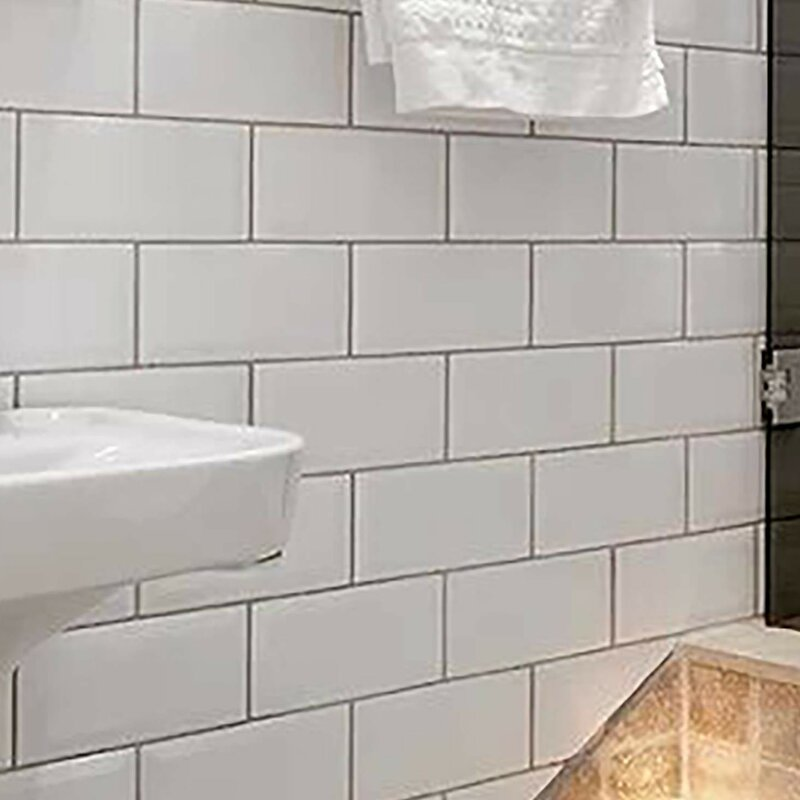 Elitetile Prospect Beveled 3 X 6 Ceramic Subway Tile In Glossy