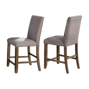 Crown Mark Manning Counter Height Upholstered Dining Chair (Set of 2)