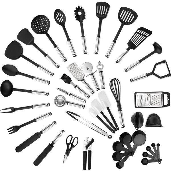 Klee 42 Piece Delux Nylon Assorted Kitchen Utensil Set Reviews Wayfair Ca