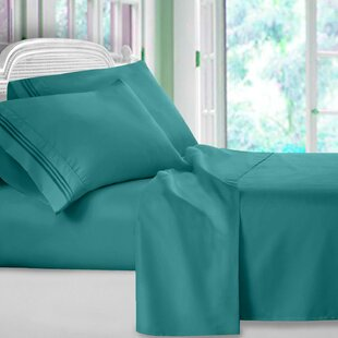 Harville Ultra-Soft Embroidery Microfiber 4 Piece Sheet Set