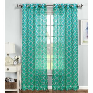 Morrocco Geometric Sheer Single Curtain Panel