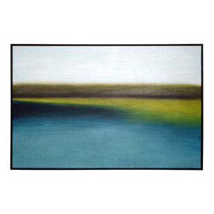 'Wetlands' Framed Graphic Art Print on Canvas