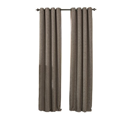Beautyrest Arlette Solid Blackout Single Curtain Panel Color: Dark Mushroom, Size per Panel: 52 W x 84 L